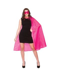Wicked Costumes Hot Pink Super Hero Cape & Mask