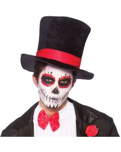 Wicked Costumes Top Hat With Red Band