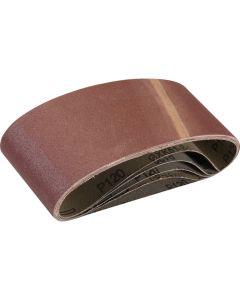 Silverline Sanding Belts 120 Grit  457x75mm 5pk