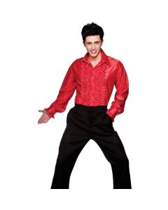 Wicked Costumes Red Disco Ruffle Shirt