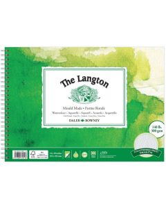 """Daler Rowney The Langton Watercolour Cold Pressed Spiral Pad 14x10"""" 300gsm"""