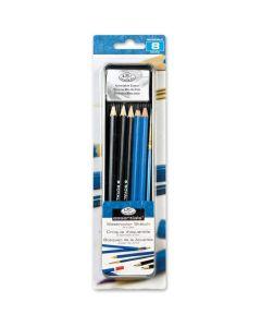 Royal & Langnickel Essentials Sketch Pencil & Brush Mini Tin Art Set
