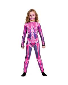 Wicked Costumes Girls Pink X-Ray Jumpsuit