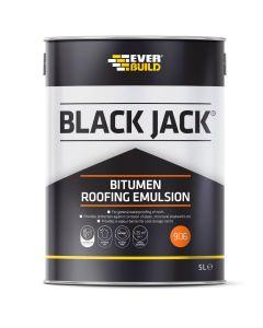 Everbuild 906 Bitumen Roof Emulsion Black 5L