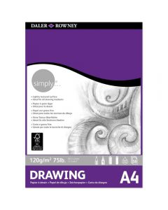 Daler Rowney Simply Drawing Pad A4 120gsm