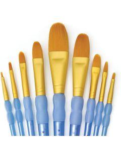 Royal & Langnickel Crafter's Choice Gold Taklon Wash Artist Brush