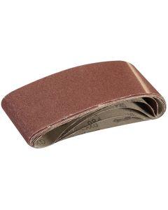 Silverline Sanding Belts 80 Grit 533x75mm 5pk