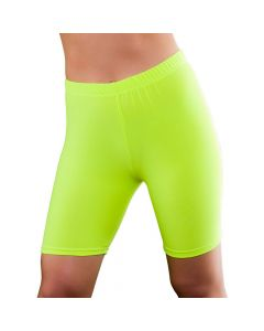 Wicked Costumes 80's Neon Yellow Cycling Shorts