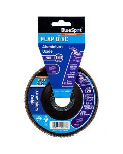 Bluespot Aluminium Oxide Flap Disc 115mm 120 Grit