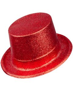 Wicked Costumes Red Glitter Top Hat