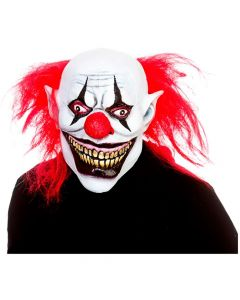 Wicked Costumes Full Head Big Mouth Killer Clown Latex Mask