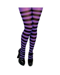 Wicked Costumes Purple & Black Candystripe Tights