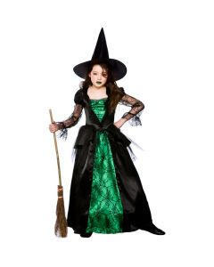 Wicked Costumes Girls Deluxe Emerald Witch
