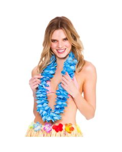 Wicked Costumes Blue Deluxe Satin Lei