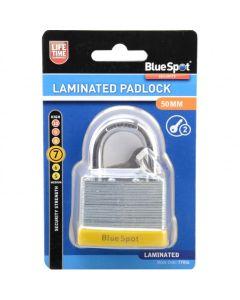 BlueSpot Laminated Padlock Double Locking 50mm