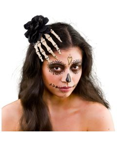 Wicked Costumes Skeleton Rose Hair Decoration