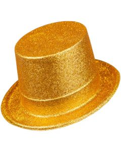 Wicked Costumes Gold Glitter Top Hat