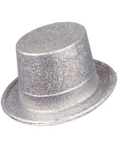 Wicked Costumes Silver Glitter Top Hat