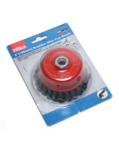 """Hilka M14 Knotted Wire Cup Brush 4"""""""