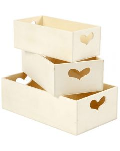 Creative Company Heart Storages Boxes 3pk