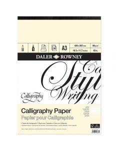 Daler Rowney A3 Calligraphy Pad 90gsm
