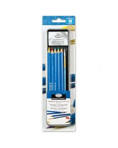 Royal & Langnickel Essentials Watercolour Pencil & Brush Mini Tin Art Set