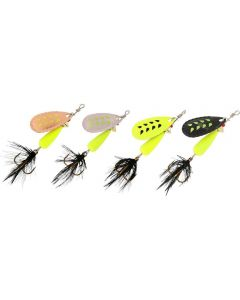 Abu Garcia Droppen Fluo Chartreuse Black Feather 8g