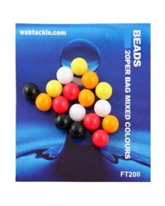 WSB Beads Mixed 6mm 20pk