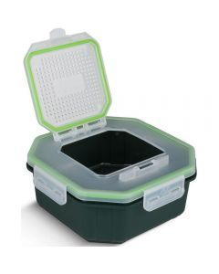 Greys Klip-Lok Bait Box Flip Top Perforated Lid Bait Box