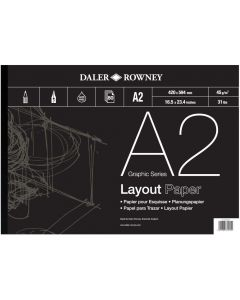 Daler Rowney Graphic Series Layout Pad A2 45gsm