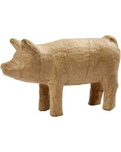 Creative Company Paper Mache Small Animals Pig