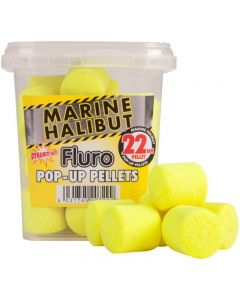 Dynamite Baits Catfish Pop Ups 22mm Yellow Fluro Marine Halibut