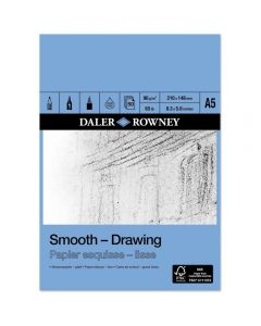 Daler Rowney Smooth Drawing Pad A5 96gsm