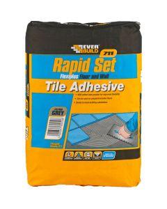 Everbuild 711 Rapid Set Flexi Tile Adhesive 20kg