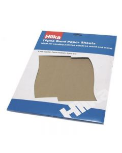 Hilka Assorted Sand Paper Sheets 10 Piece