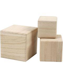 Creative Company Wood Cubes 3pc