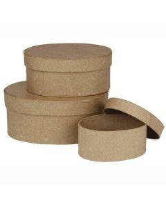 Creative Company Paper Mache Boxes Oval 3pk