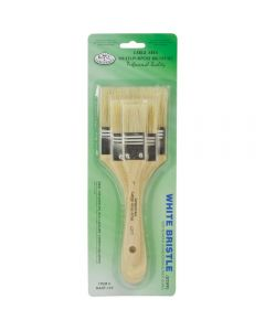 Royal & Langnickel White Bristle Large Area Brush 3pk