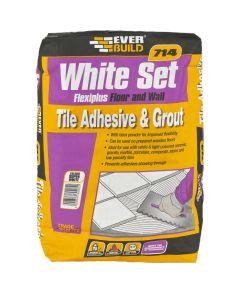Everbuild 714 White Set Tile Adhesive/Grout 20kg