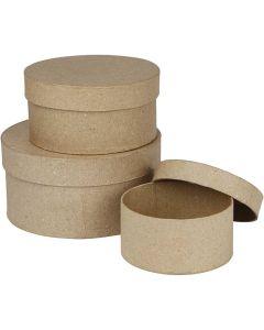 Creative Company Paper Mache Round Boxes 3pk