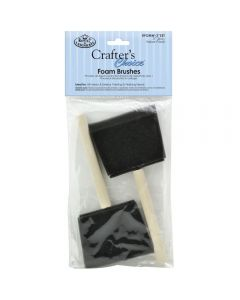 Royal & Langnickel Crafter's Choice Wooden Handle Foam Brush Set 3pk